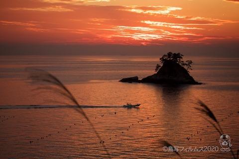 松島の夕日_歌碑公園_2020-11-06_16-49-32