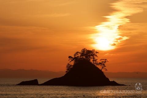 松島の夕日_鯨浜_2020-03-12_17-44-12