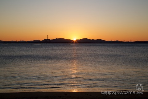 篠島_前浜朝日富士山_2019-12-28 07-02-57