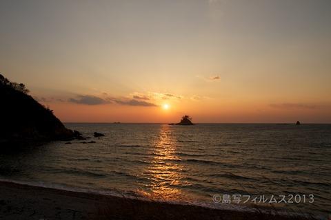 松島の夕日_歌碑公園_2013-02-22 17-20-09