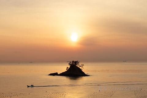 松島の夕日_歌碑公園_2013-02-14 17-13-27