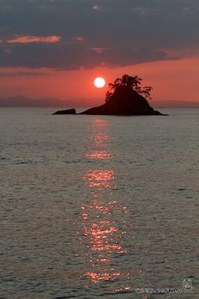 松島の夕日_鯨浜_2020-10-12_17-11-28