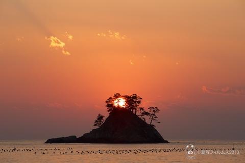 松島の夕日_汐味_2013-12-31_16-40-17