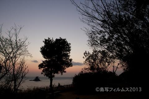 松島の夕日_歌碑公園_2013-02-22 17-52-40