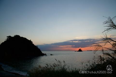 松島の夕日_鯨浜_2020-10-12_17-06-50