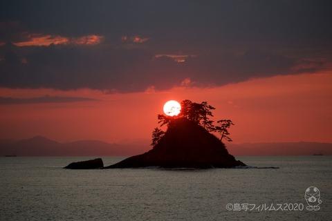 松島の夕日_鯨浜_2020-10-12_17-10-43