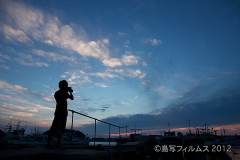 島写_漁港_夕日_篠島_風景_漁船_#Silhouette_2012-07-02 19-02-42