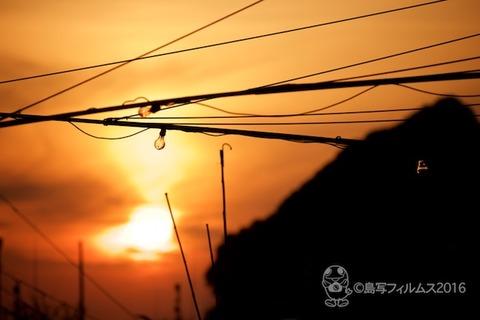 篠島漁港_夕日_漁船_2016-04-06 18-06-10