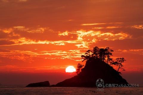 松島の夕日_鯨浜_2014-10-25_16-59-39