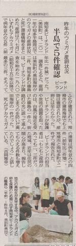 ウミガメ白書2011@中日新聞