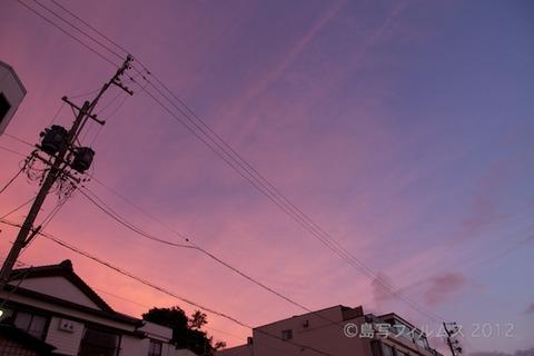前浜サンサンビーチ_朝日_ドーンパープル_ 2012-08-28 05-12-25