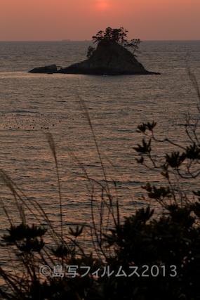 松島の夕日_歌碑公園_2013-02-22 17-26-28