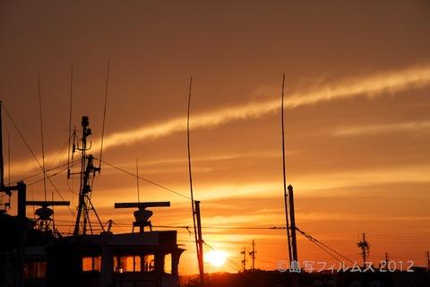 漁港_夕日_篠島_風景_漁船_#Silhouette_2012-06-22 18-54-04