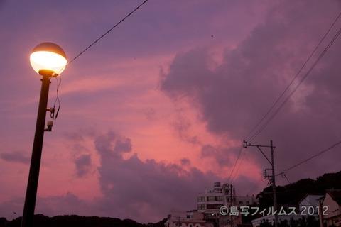 前浜サンサンビーチ_朝日_ドーンパープル_ 2012-08-28 05-12-44