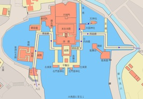 嚴島島神社・境内の地図(マップ)