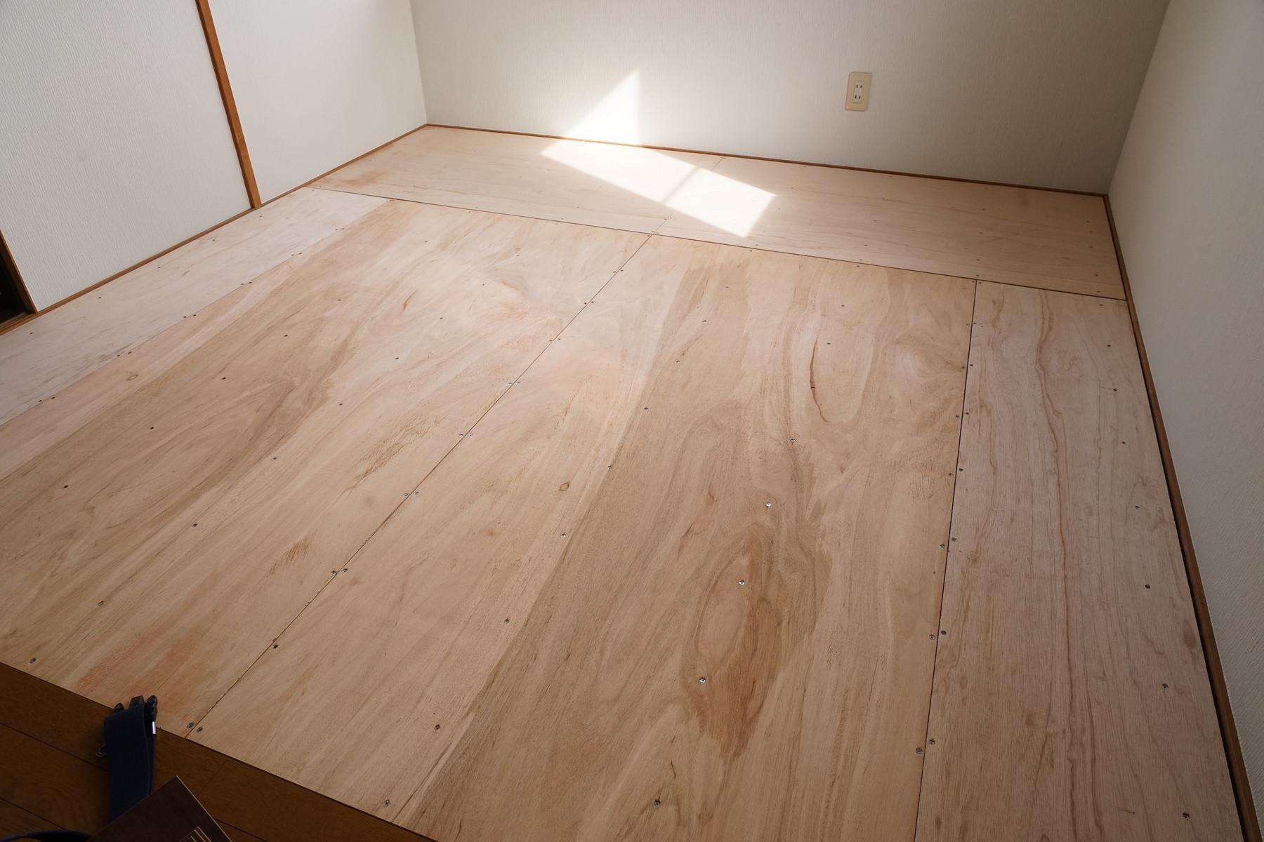 3 階和室の壁紙貼り替え と 畳をフロアタイルに貼り替えました 3 趣味の 写真 Diy オーディオ 日記