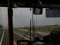 移動中のバス内からpeach