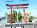 富士浅間宮の赤鳥居