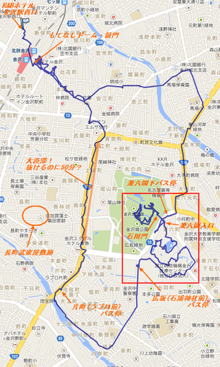 金沢散策マップ