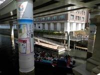 日本橋下の船着場