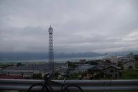 下諏訪宿への街道からの諏訪湖