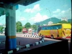 ペナン島のバスターミナル
