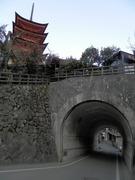 五重塔と塔之岡隧道