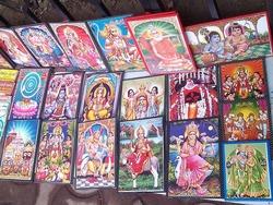 ヒンドゥーの神々が描かれたカード
