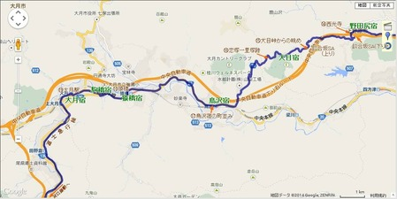 犬目宿~大月駅