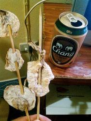 スルメ串とビール