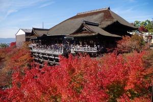 清水の舞台と紅葉