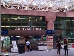 シンガポールのイミグレーションの入口