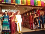 インドの民族衣装を売る店