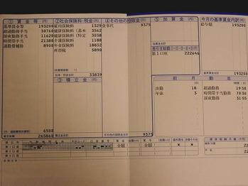 賃金支払明細票 7月分 トヨタ自動車