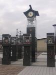 駅前のカラクリ時計
