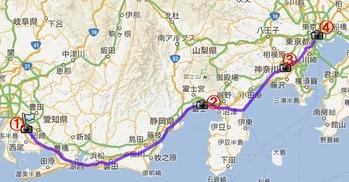 東京へ地図