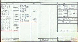 給与明細票 8月分(2年目) トヨタ車体