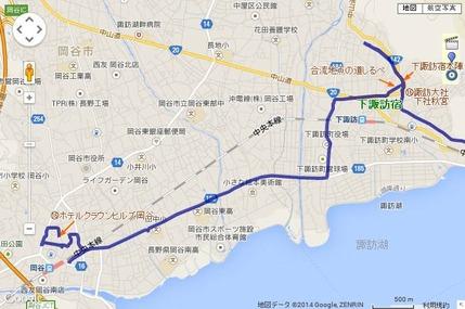 下諏訪宿~岡谷駅周辺
