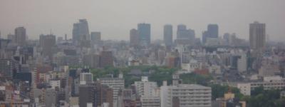通天閣から大阪城方面