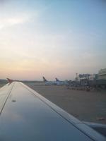 福岡空港に着陸