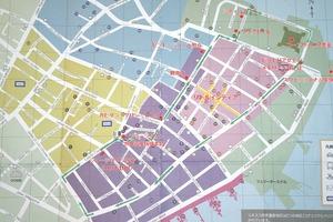 ジョージタウンの散策マップ