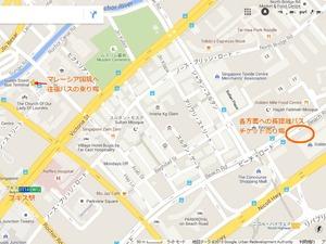 バス乗り場の地図