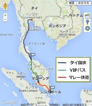 マレー半島横断地図