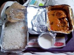 インドの列車の車内食