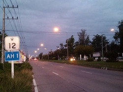 アジアハイウェー1号線の標識
