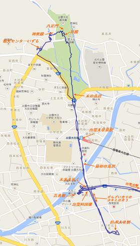 出雲大社散策マップ
