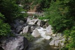 昇仙峡の峡谷の岩1