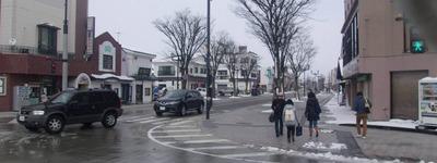 喜多方駅前の道路