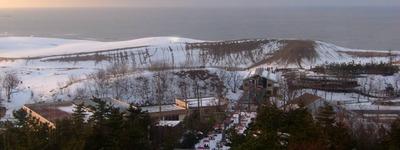 展望台から見る鳥取砂丘