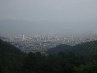 昇仙峡グーリーンラインの見晴らし台より